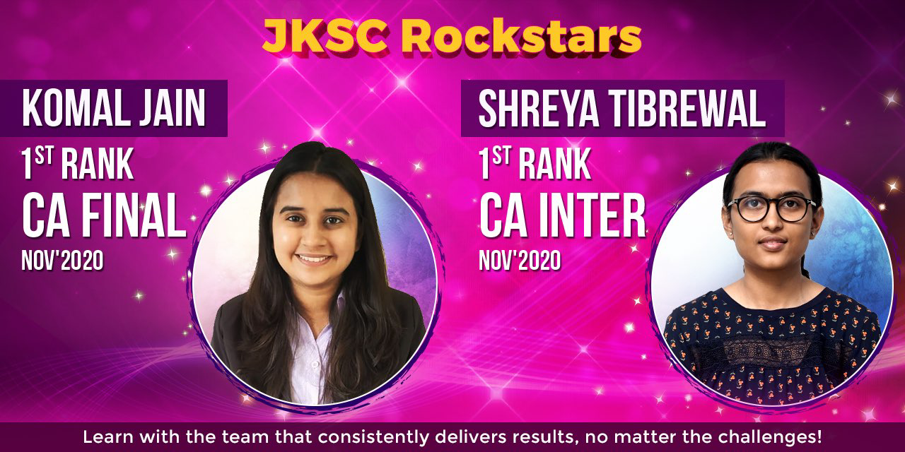 CA Toppers of JK Shah Online