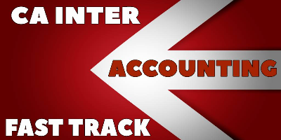 CA Inter Accounting Fast Track - JK Shah Online