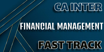 Financial Management CA Fast Track - JK Shah Online