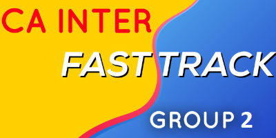 CA Inter Fast Track Group 2 - JK Shah