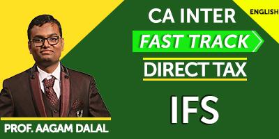 CA Inter Fast Track Direct Tax IFS  - JK Shah Online