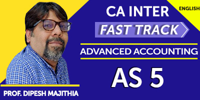 CA Inter Fast Track Advanced Accounting AS 5 -  JK Shah Online