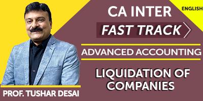 CA Inter Fast Track Liquidation Of Companies -  JK Shah Online