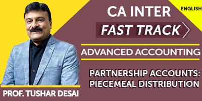 CA Final Fast Track Partnership Accounts Piecemeal Distribution - JK Shah Online