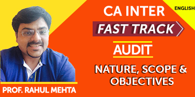 CA Inter Fast Track Audit Nature, Scope and Objectives  - JK Shah Online