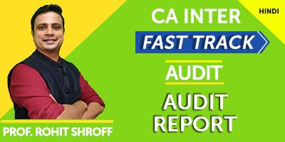 CA Inter Fast Track Audit Report - JK Shah Online