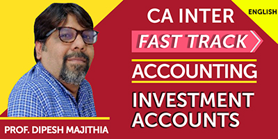 CA Inter Fast Track Investment Accounts - JK Shah Online