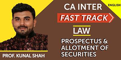 CA Inter Fast Track Prospectus & Allotment of Securities - JK Shah Online