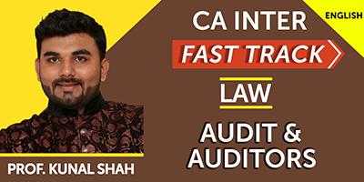 CA Inter Fast Track Law Audit & Auditors  - JK Shah Online