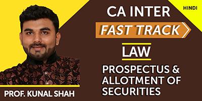 Prospectus & Allotment of Securities (Fast Track)