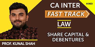 Share Capital & Debentures (Fast Track)