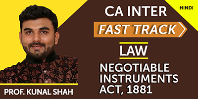 Negotiable Instruments Act, 1881 (Fast Track)