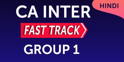 CA Inter Fast Track Group 1 - JK Shah Online
