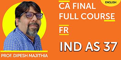 CA Final Full Course IND AS 37  - JK Shah Online