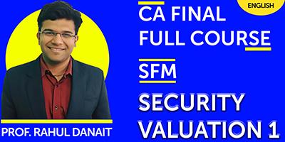 CA Final SFM Full Course - JK Shah Online