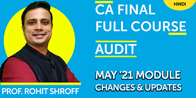 May 21 Module Changes and Updates - Prof. Rohit Shroff  - JK Shah Online