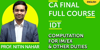 CA Final Full Course Compution for IM/EX and Other Duties  - JK Shah Online