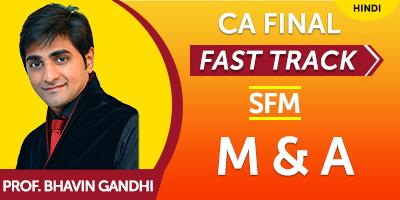 CA Final Fast Track SFM M & A  - JK Shah Online