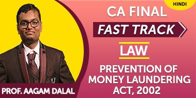 CA Final Fast Track Prevention of Money Laundering - JK Shah Online