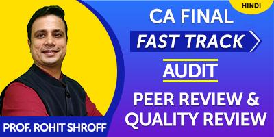 CA Final Fast Track Audit - JK Shah Online