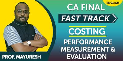 CA Inter Fast Track Costing Performance Measurement & Evaluation - JK Shah Online