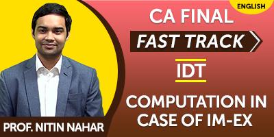 CA Final Indirect Tax Fast Track - JK Shah Online
