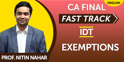 CA Inter Indirect Tax Fast Track