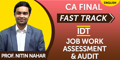 CA Inter Fast Track Job work assesment and Audit - JK Shah Online