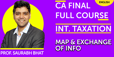 CA Final Full Course INT Taxation Map And Exchange of INFO  - JK Shah Online