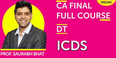 CA Final Full Course Direct Tax ICDS - JK Shah Online
