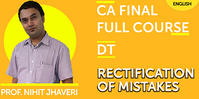 CA Final Full Course Rectification Of Mistakes - JK Shah Online