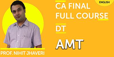 CA Final Full Course Direct Tax AMT - JK Shah Online