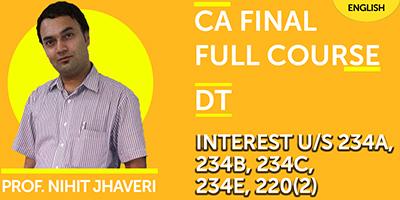 CA Final Full Course Direct Tax - JK Shah Online