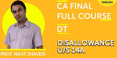 CA Final Direct Tax Full Course - JK Shah Online