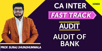 Audit of Bank (Fast Track) - Prof. Suraj Jhunjhunwala (Hindi) for Nov 21
