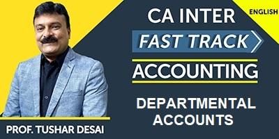 Departmental Accounts (Fast Track) - Prof. Tushar Desai (English) for May 21, Nov 21